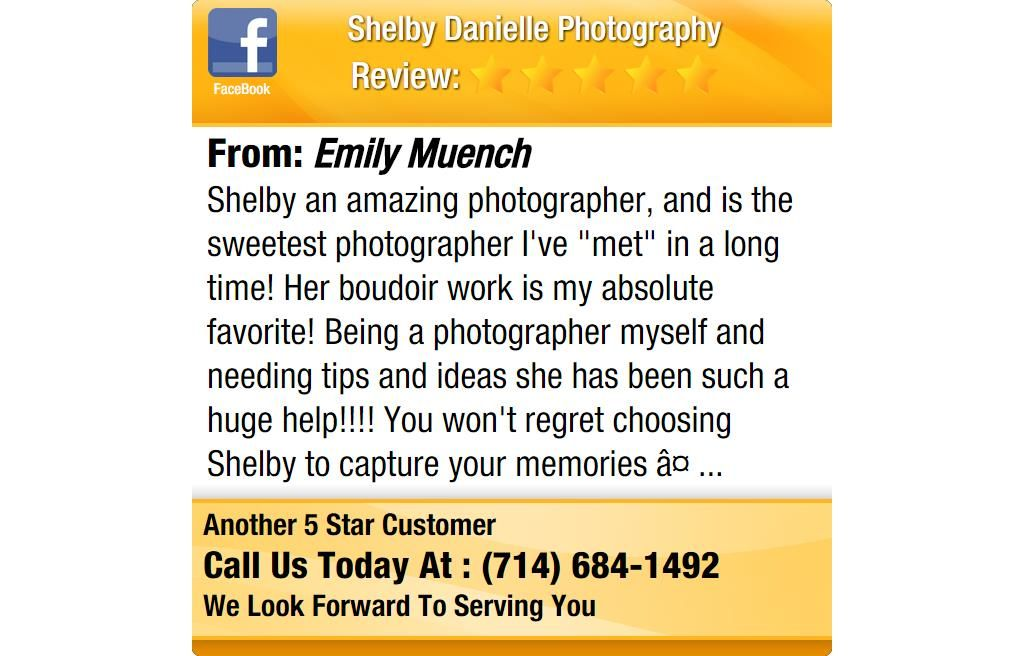 "Shelby an amazing photographer, and is the sweetest photographer I've ""met"" in a long..."