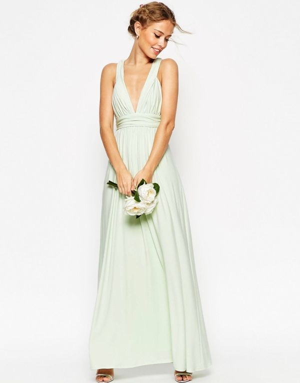 ASOS WEDDING Ruched Double Strap Maxi Dress | Maxis, ASOS and Dresses