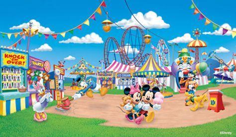 disney wall murals for kids rooms Disney Mickeys Amusement Park