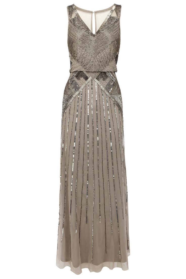 Best color dress to wear to a wedding  Gray sequin bridesmaid dress  My wedding ideas on Pinterest