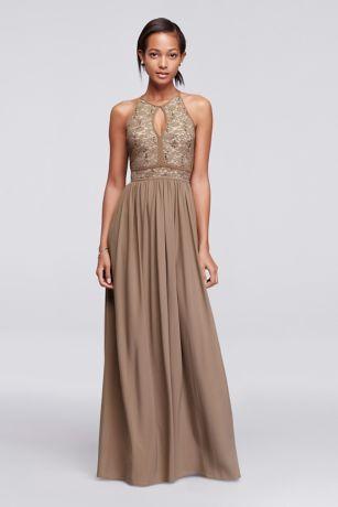 Lace Keyhole Tie Back Halter Dress Style Pinterest