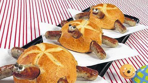 Hot Dog mit Augen (mit Bildern) | Essen für kinder, Lustig ...