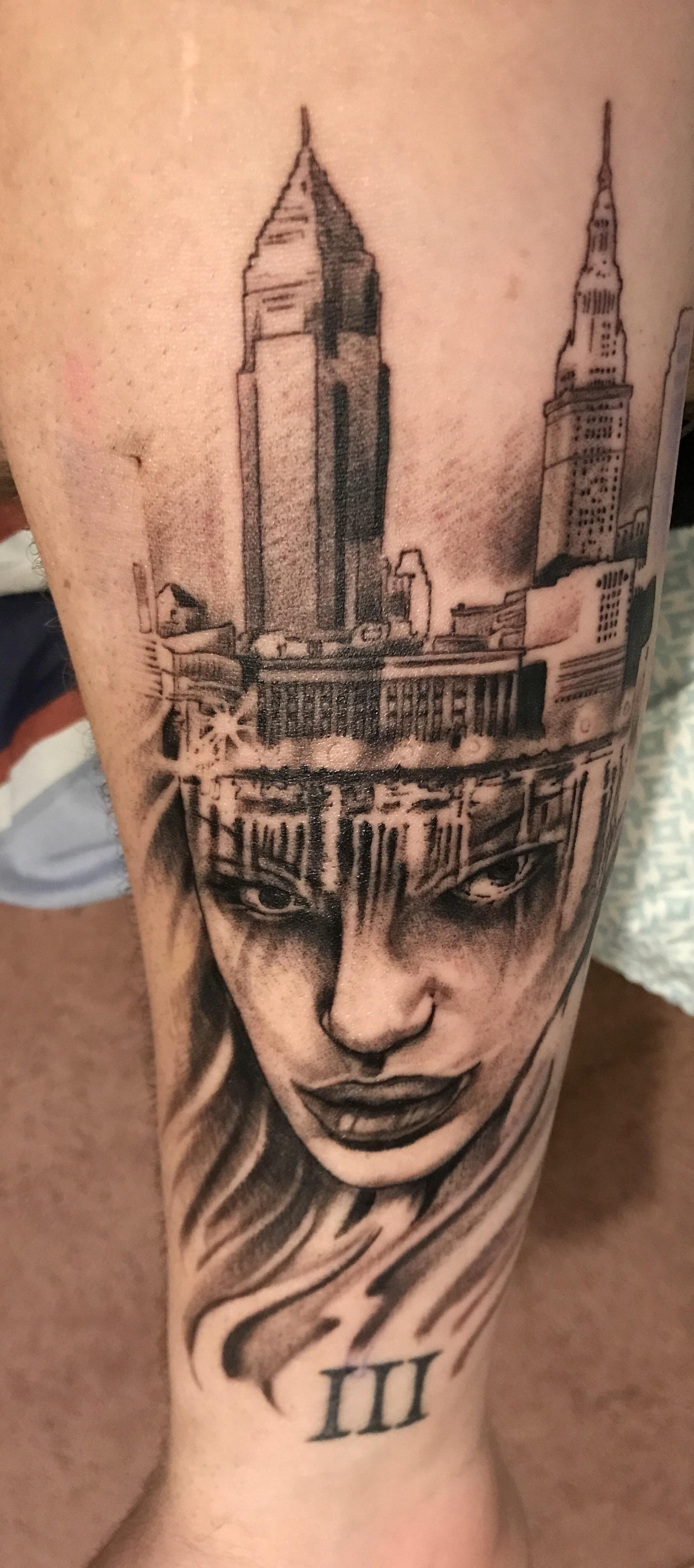 Cleveland Skyline Tattoo : cleveland, skyline, tattoo, Pinterest