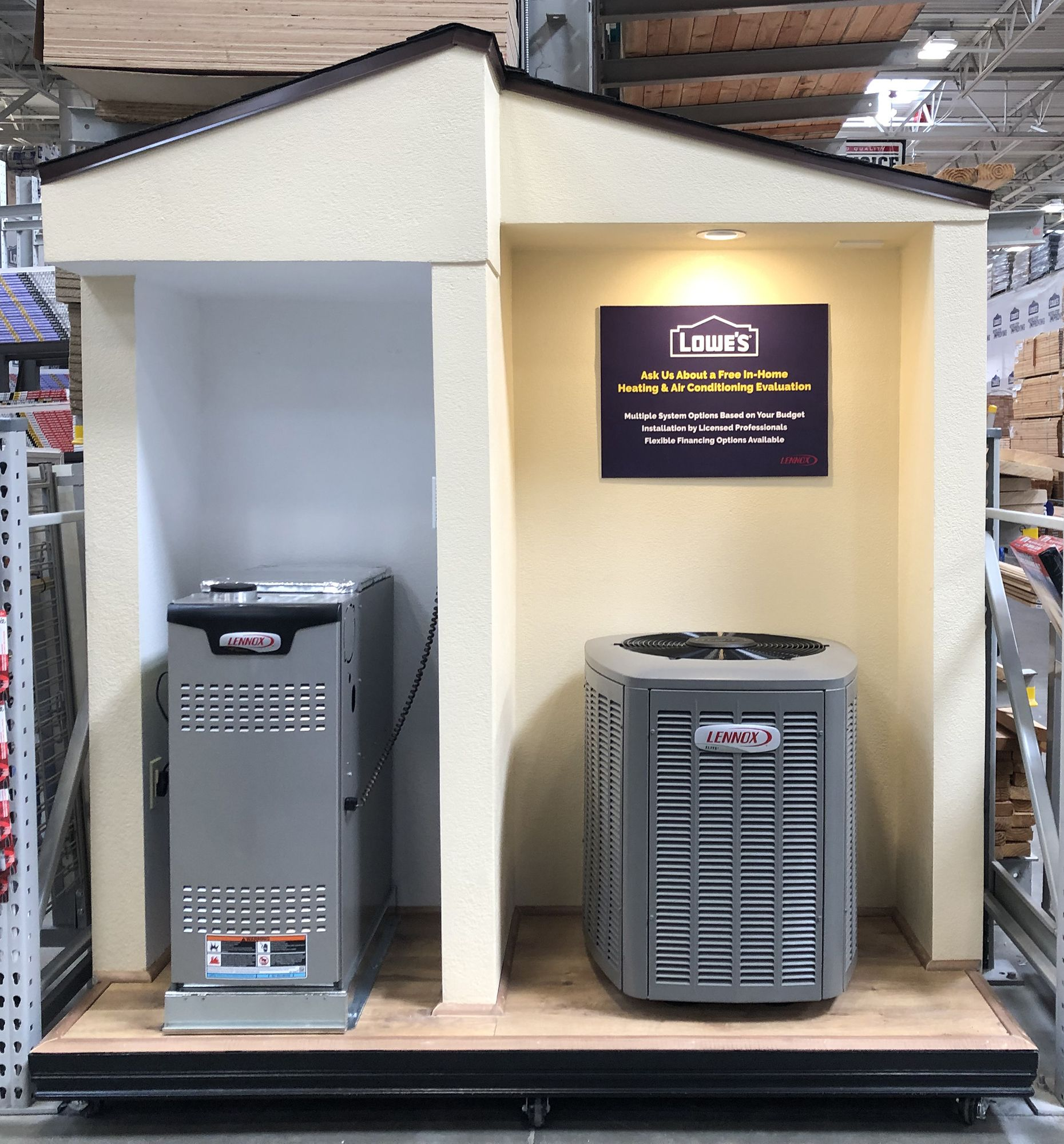 Have You Seen Our New Display At Lowe S Visit Us Today 155 Old Grove Road Oceanside 1800anytyme Plumber Plumbing Heating Air Air Heating Plumbing Heat