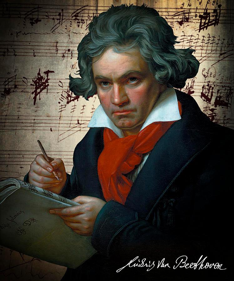 Ludwig Van Beethoven 1820 by Daniel Hagerman in 2020 | Beethoven, Music cartoon, Ballet music