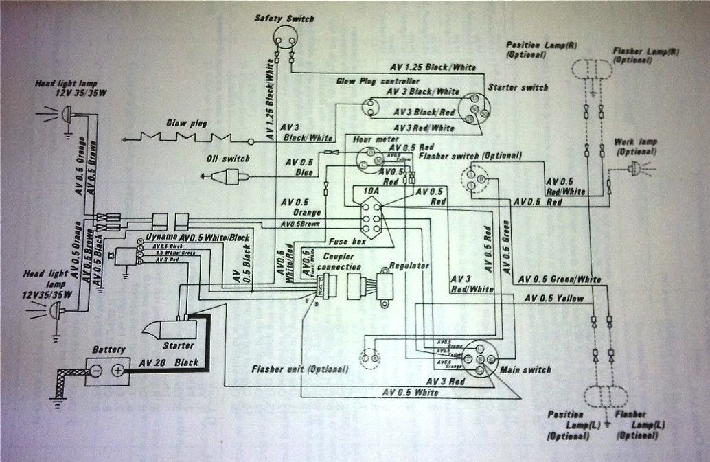 kubota wiring schematic together with kubota g1900 wiring diagram  kubota rtv engine diagram #7