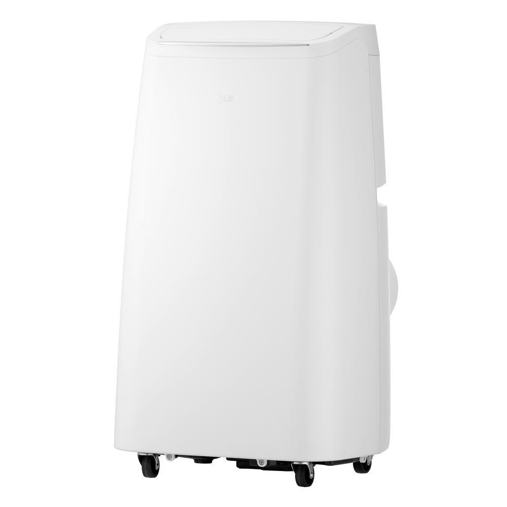 Lg Electronics 10 000 Btu 6 500 Btu Doe 115 Volt Portable Ac W Dehumidifier Function And Lcd Remote In White Lp1018wnr Dehumidifiers Lg Electronics Heat Pump System