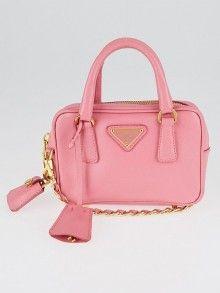 52ed095233 Prada Geranio Saffiano Leather Mini Cross-Body Bag BL0705 Mode Femme,  Accessoires, Sacs