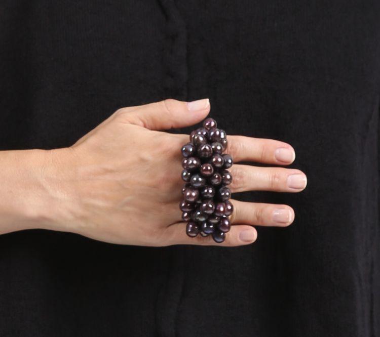 monies - Ring Ebony Pearls - Winter 2016