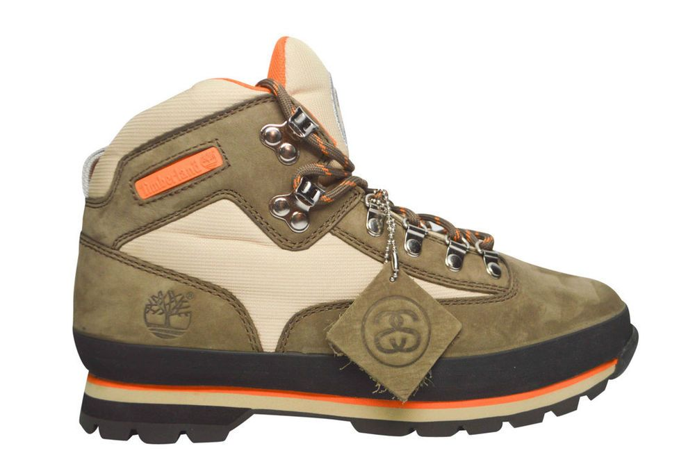 Details about STUSSY X TIMBERLAND EURO HIKER BOOT BROWN
