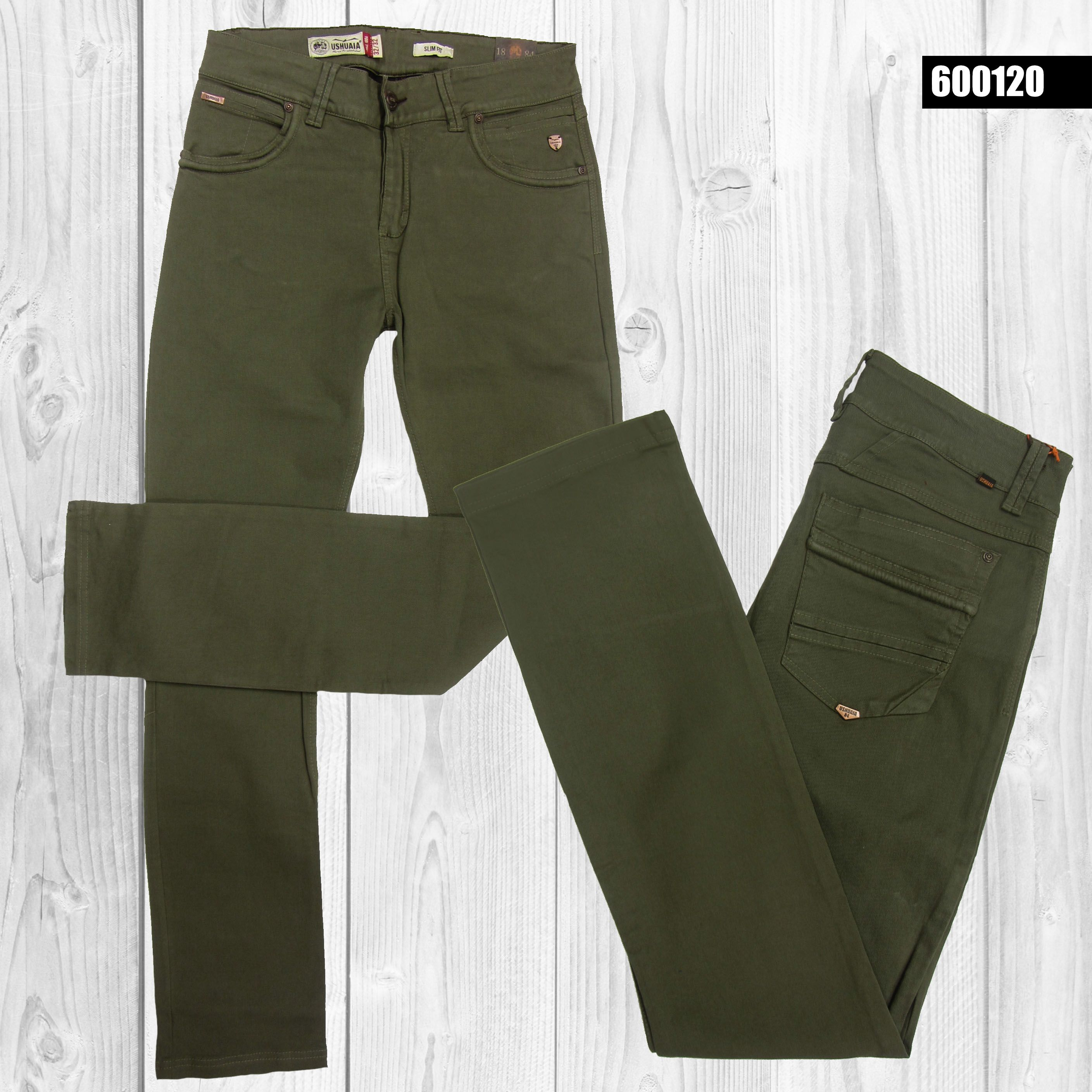 Pantalon Hombre Color Verde Militar 600120 Pantalon Hombre Ropa De Hombre Ropa