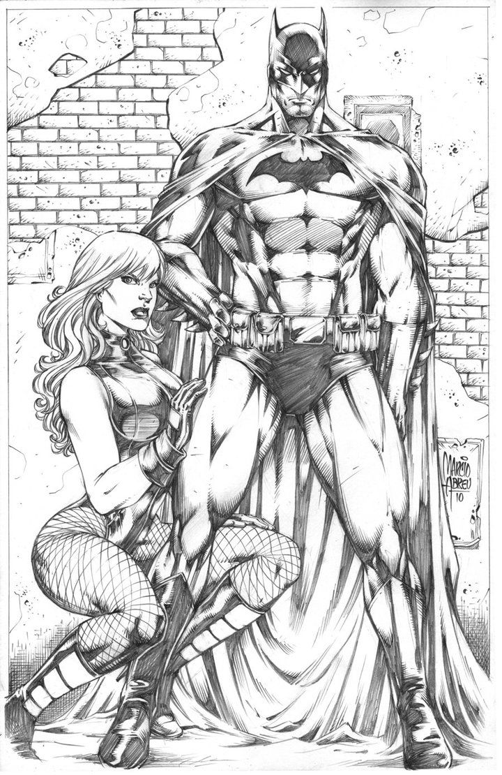 Batman and Black Canary by Marcio Abreu | Coloring Pages | Pinterest
