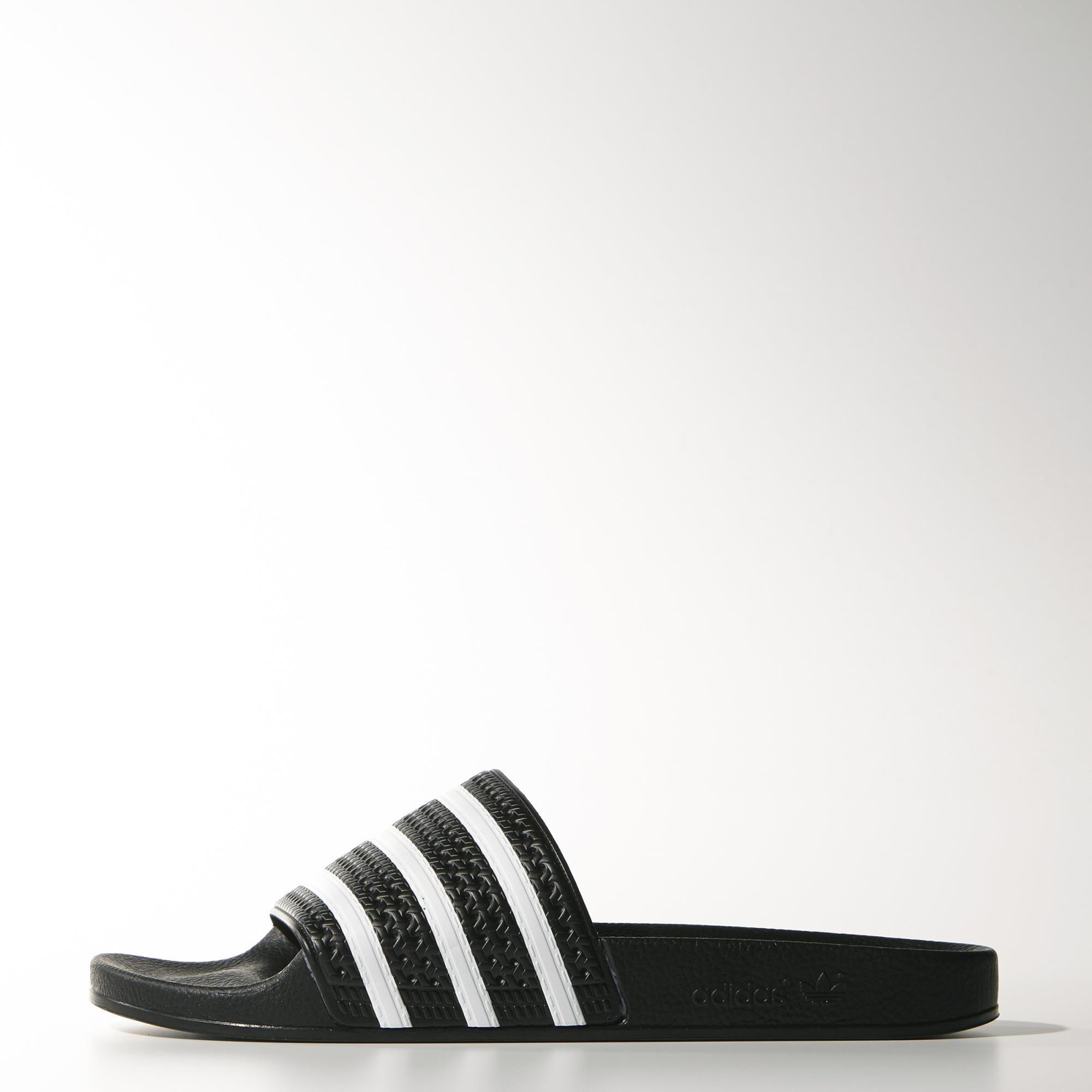 Zapatos negros Adidas Adilette para mujer BVrxipLp1d