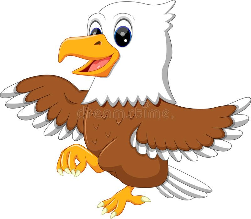 Download Cute Eagle Stock Vector Image Of Happy Life Feather 71315073 Eagle Cartoon Cartoon Illustration Animal Drawings