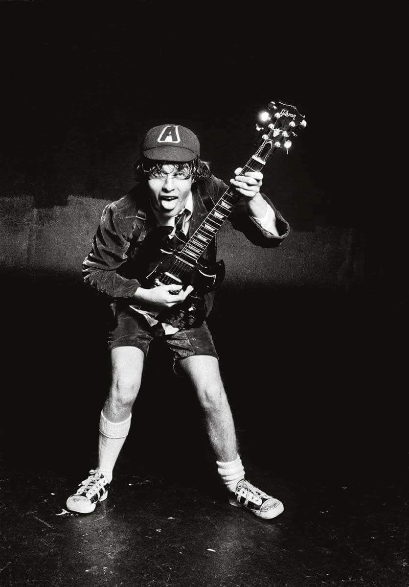 Angusyoung acdc angus young hollywood art young