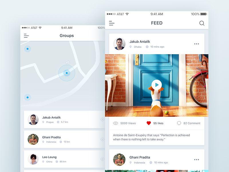 Social Location App Mobile Web Design Simple Web Design Mobile App Design