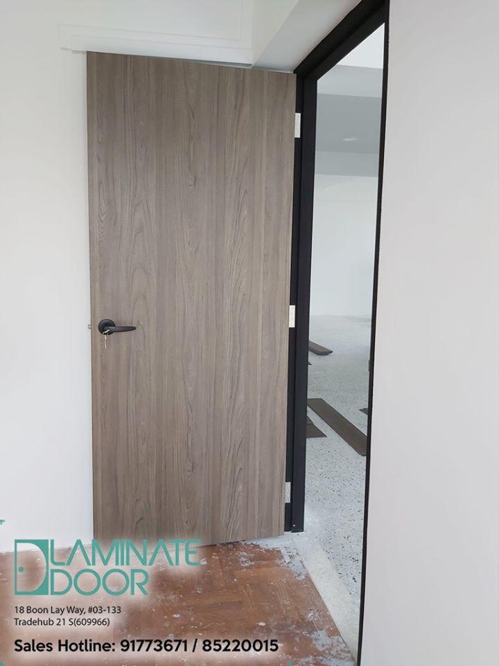 Image Of 2 Bedroom Felix Hdb: HDB Single Leaf Laminate Bedroom Door In 2020
