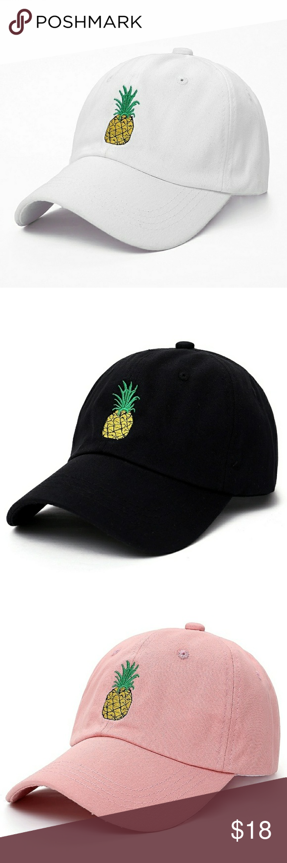 37d4a50a7ec Pineapple Embroidered Dad Hats VORON men women Pineapple Dad Hat Baseball  Cap Polo Style Unconstructed Fashion
