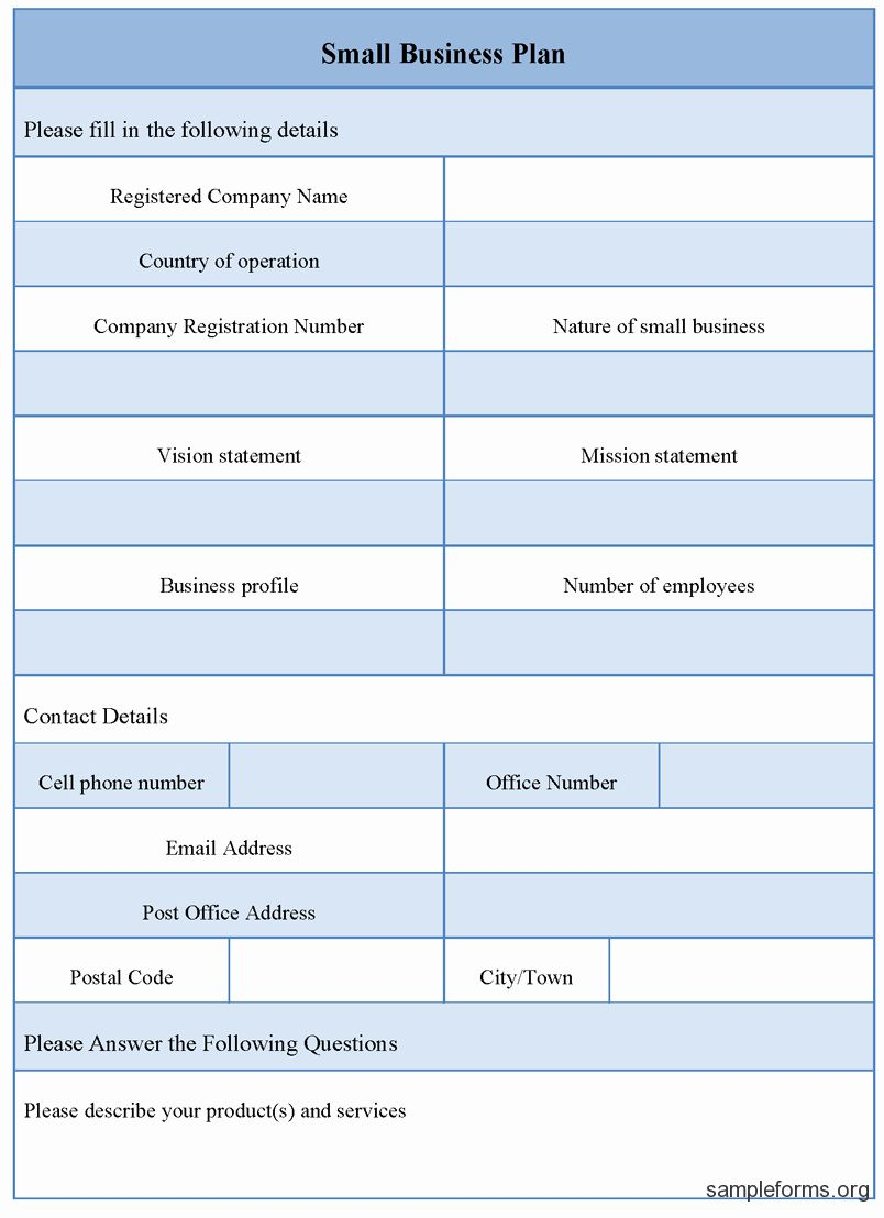 Best Of Business Plan format Template in 2020