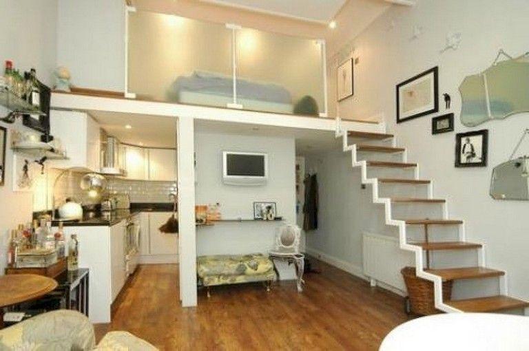 52 Stunning Tiny Loft Apartment Decor Ideas Tiny Loft Loft Apartment Decorating Apartment Decor Inspiration