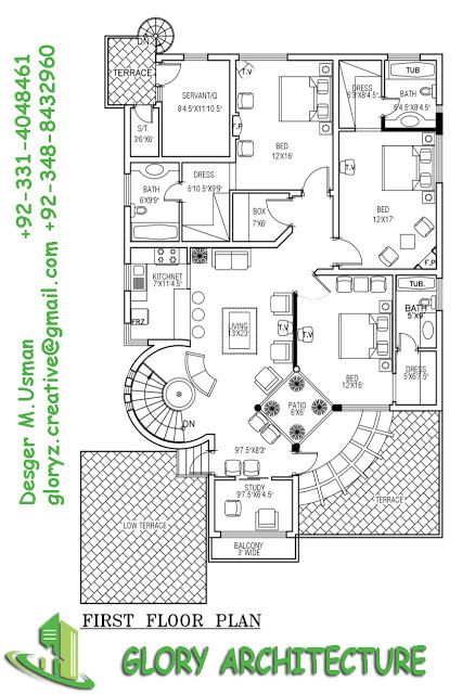 1 kanal house plan 50x90 house plan 1 kanal pakistan for One kanal house plan