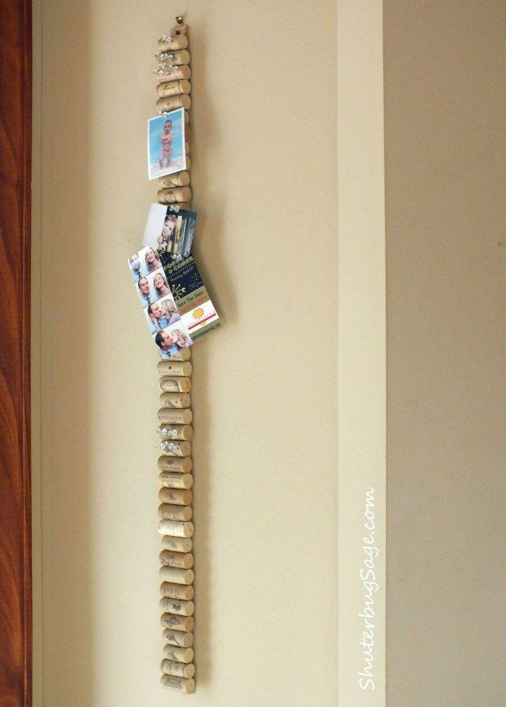 Yardstick with corks glued on to make