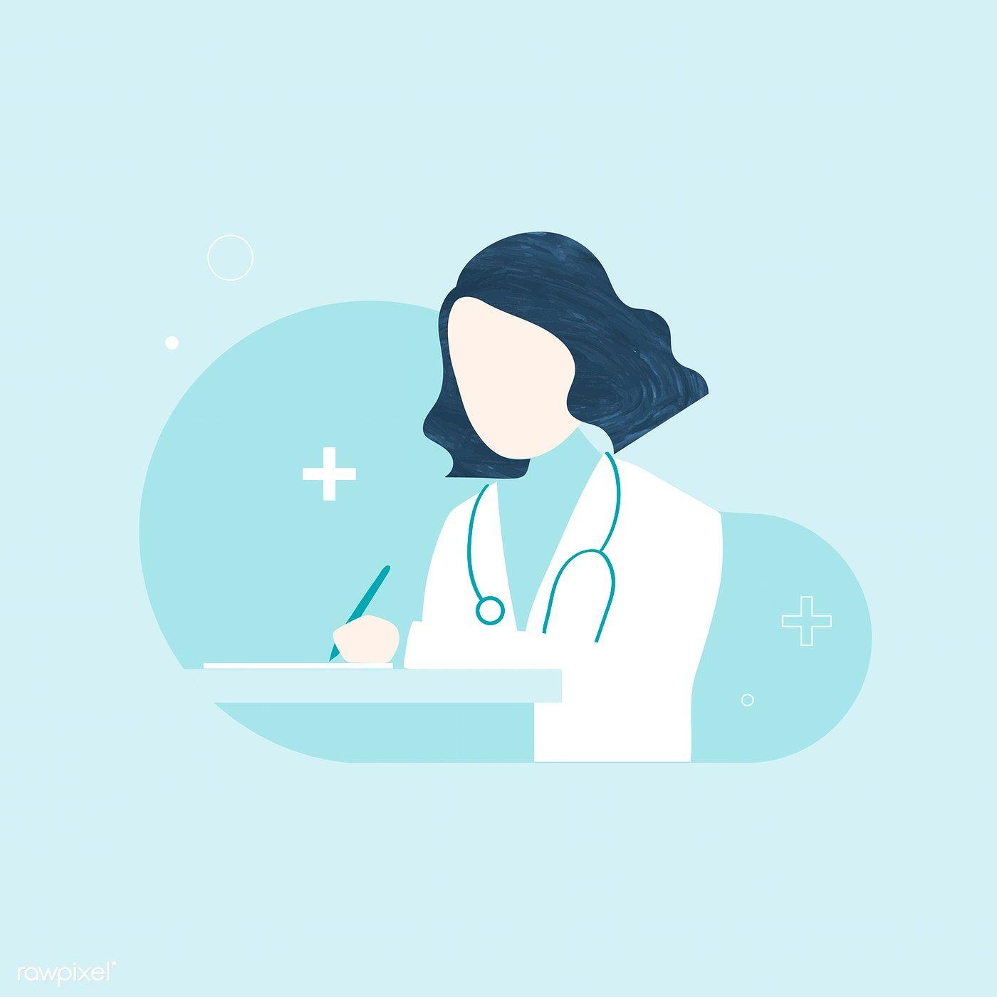 Bilderesultater for female doctor illustration