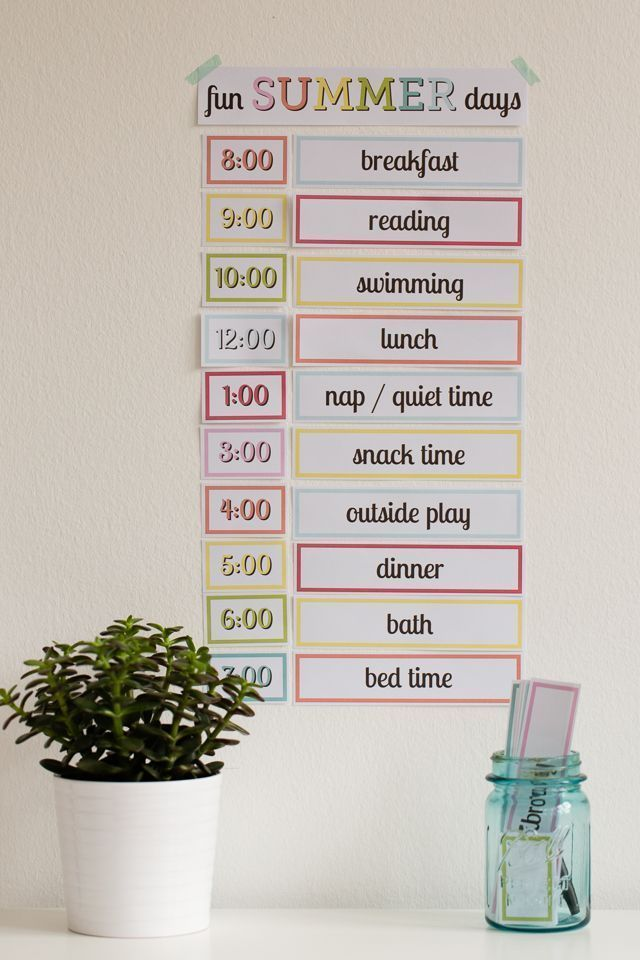 Free Printable: Setting up a Simple Routine with Kids - Modern Parents Messy Kids #summerschedule