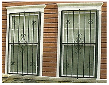 Metal Window Security Bars Custom Fabrication Welding Window