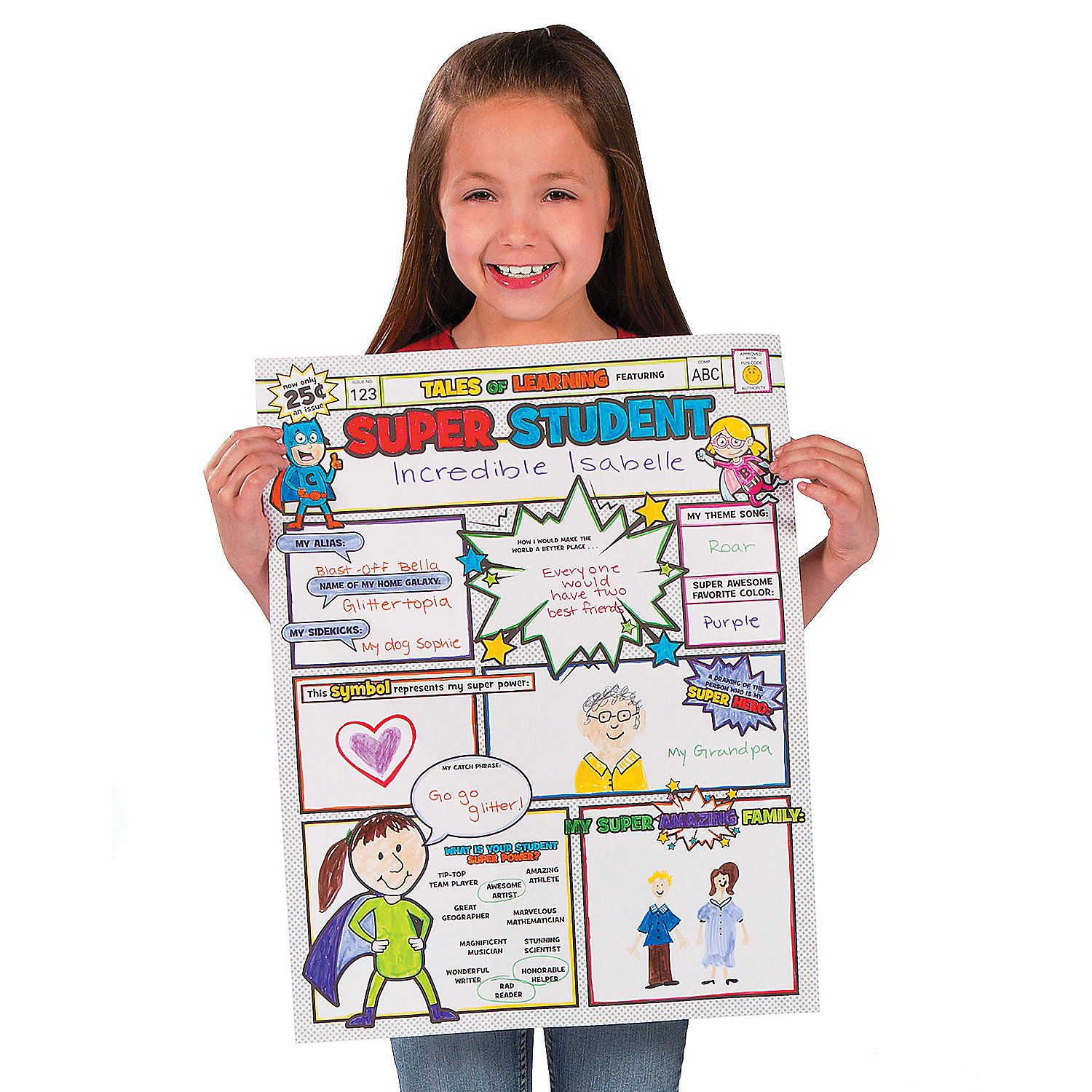 Color Your Own Super Student Posters
