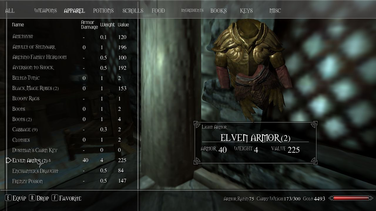 QD Inventory at Skyrim Nexus - Skyrim mods and community | UI Design