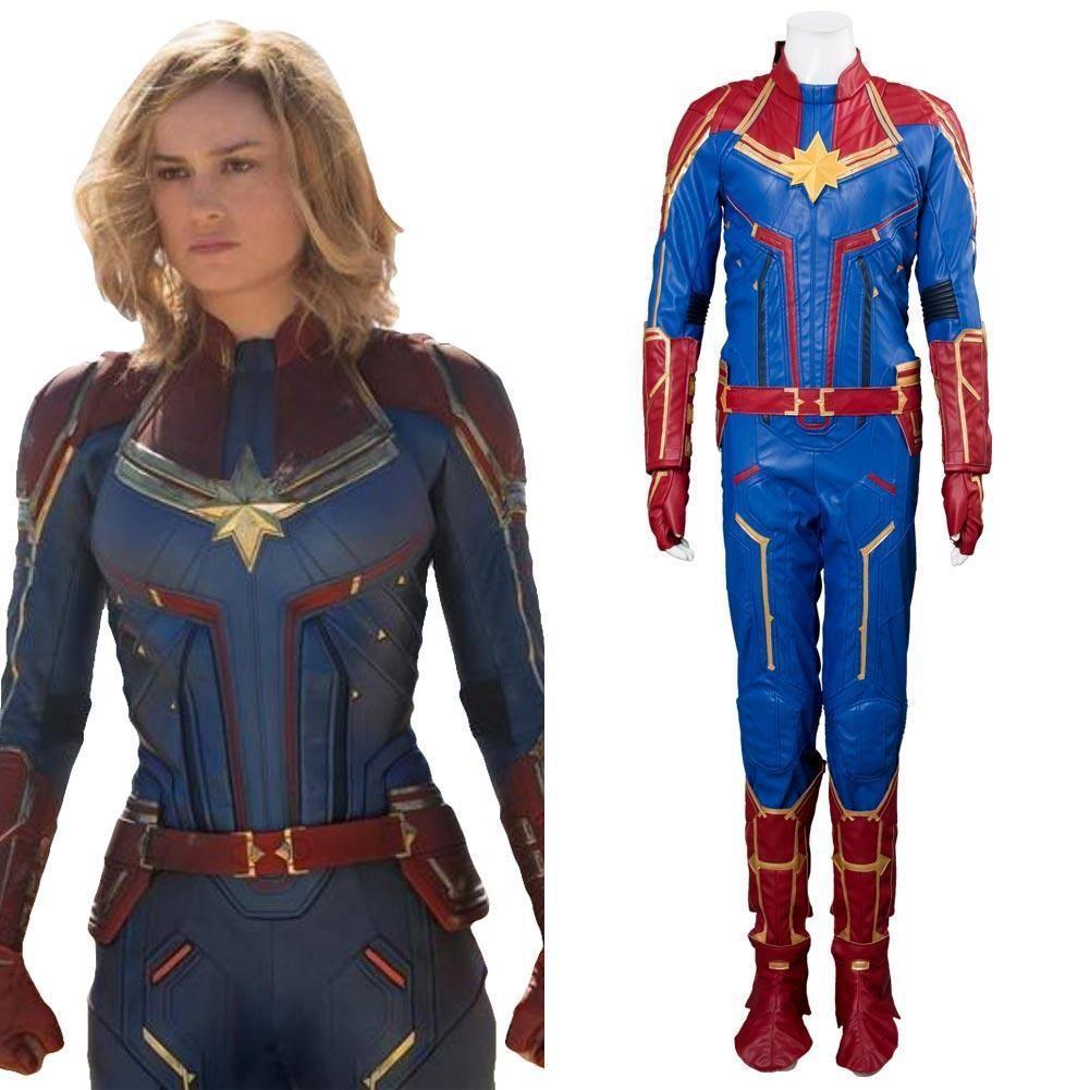 Avengers 4 Captain Marvel Outfit Carol Danvers Cosplay Costume Captain Marvel Costume Cosplay Costumes Captain Marvel Find great deals on ebay for captain marvel costume. pinterest