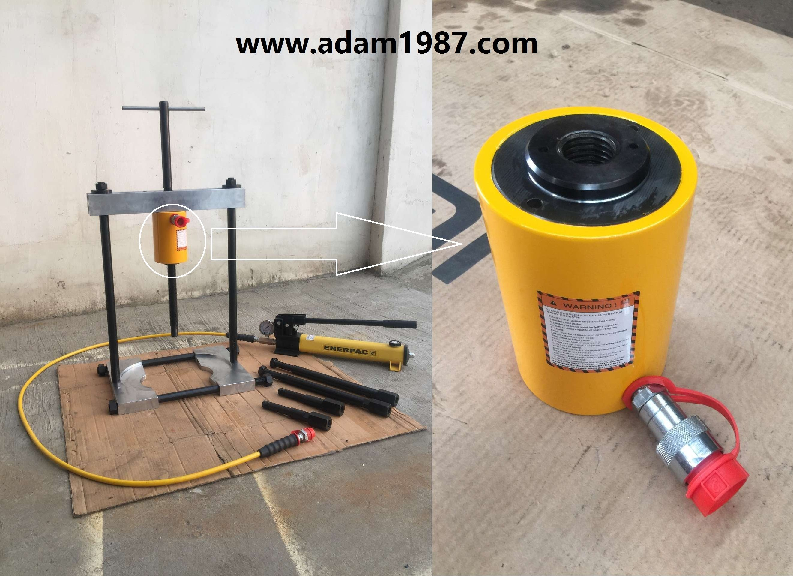 Rent A Hydraulic Puller : Hollow plunger cylinder for the hydraulic puller set