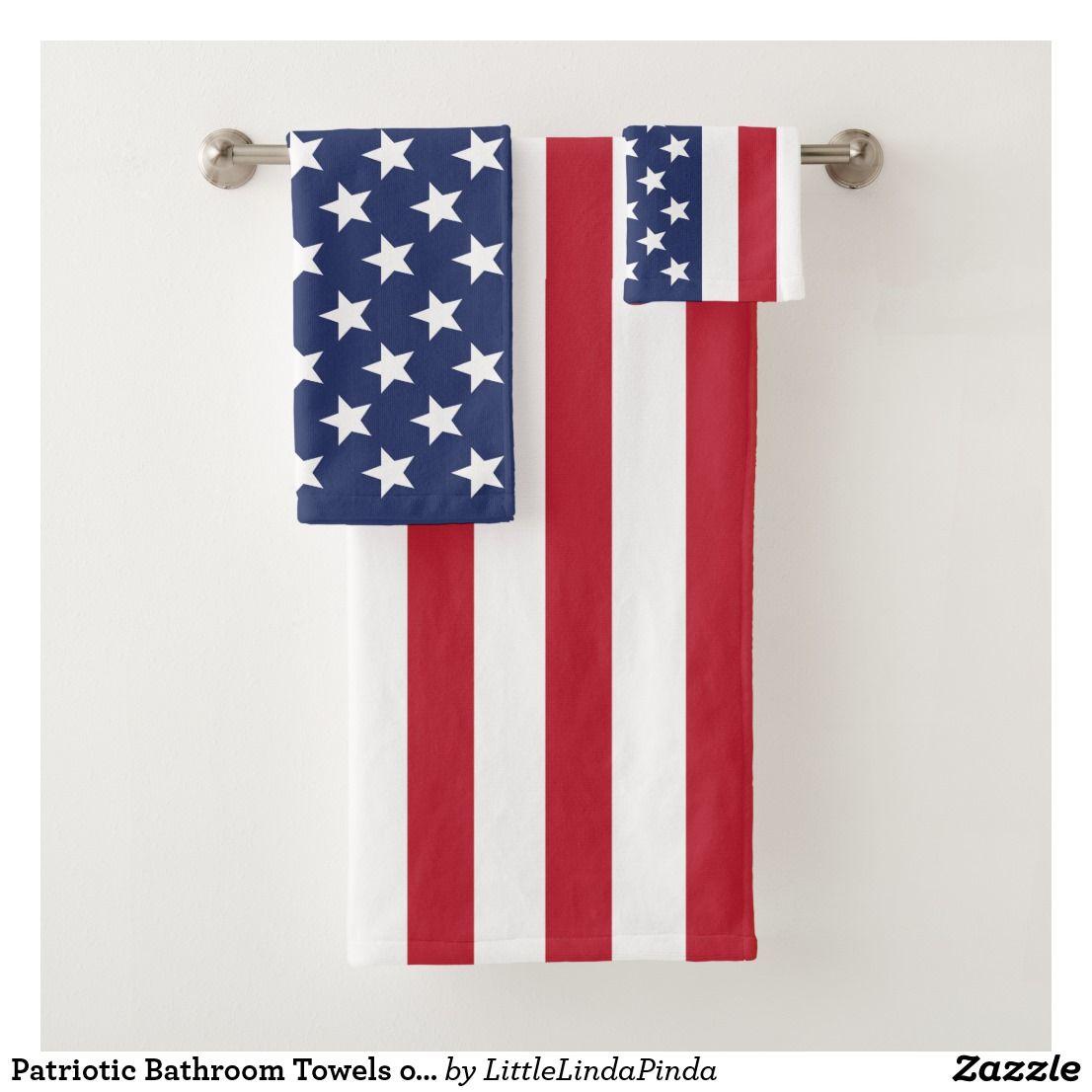 Patriotic Bathroom Towels Or Change To Your Images Zazzle Com American Flag Decor Custom Towel Bathroom Towels American flag bathroom decor