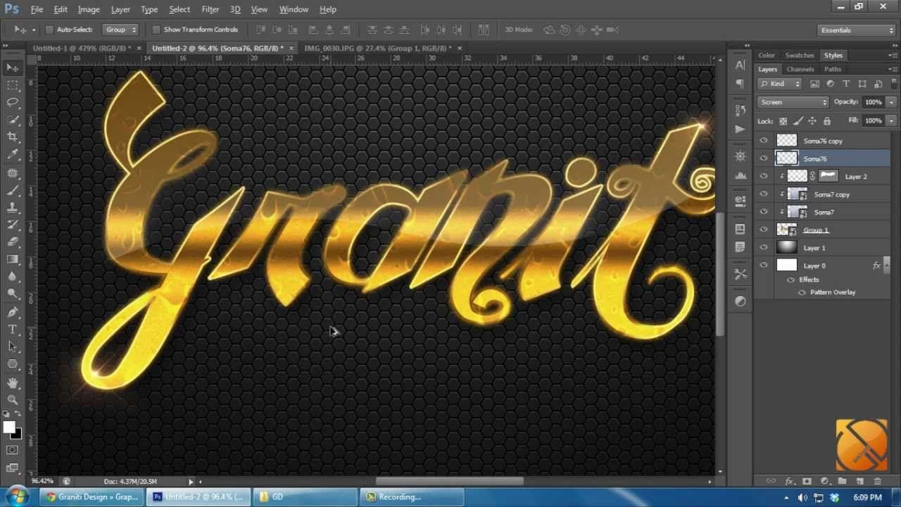 Tutorial photoshop cs6 hd how to make pattern and gold text tutorial photoshop cs6 hd how to make pattern and gold text style baditri Gallery