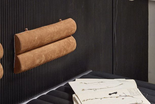 'Scoop'   Leather pillows by Iina Kettunen