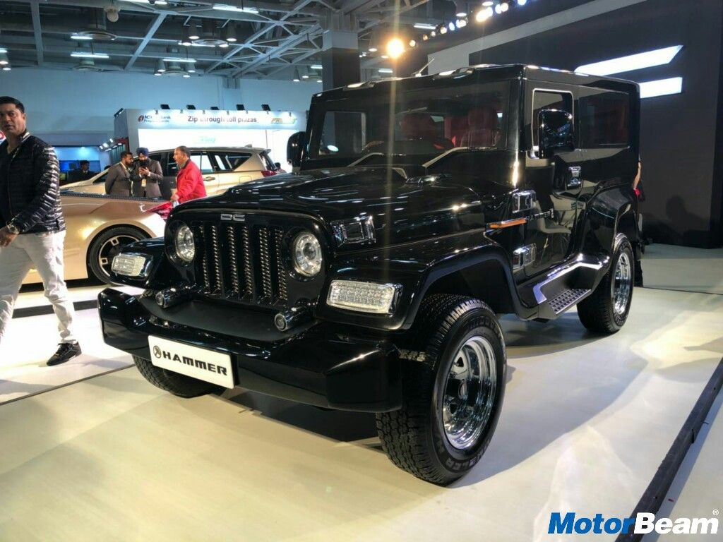 Dc Hammer Is A Heavily Modified Thar Showcased At Auto Expo