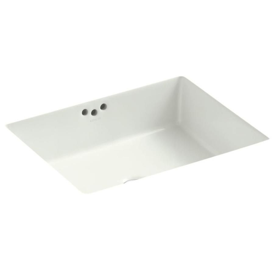 Kohler kathryn dune undermount rectangular bathroom sink with overflow also