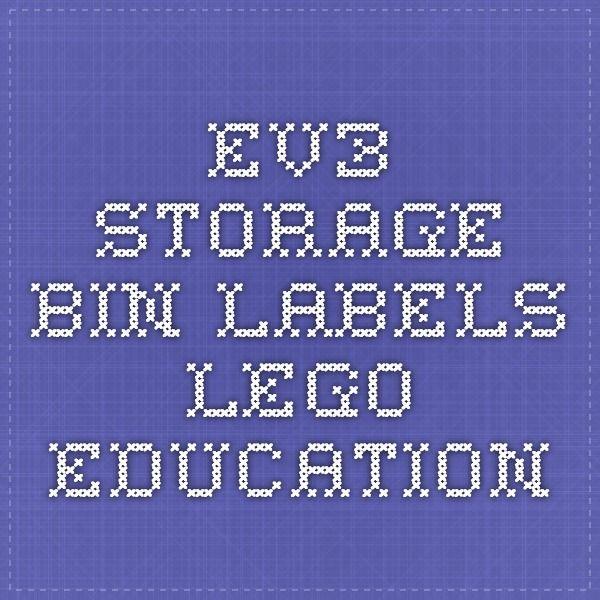 Ev3 Storage Bin Labels Apprentissage Enseignement Et P 233 Dagogie