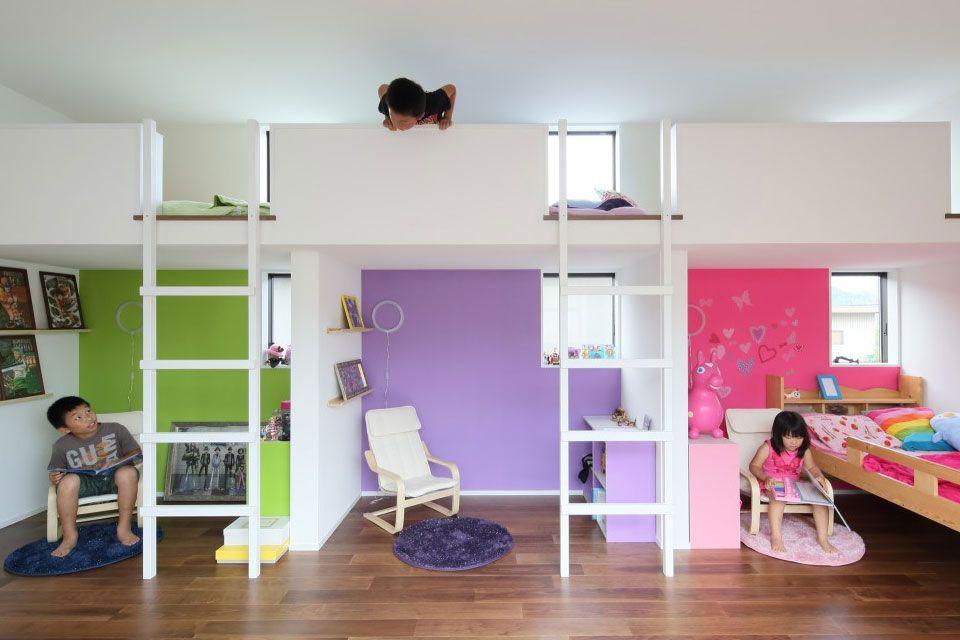 house in fukuchiyama by arakawa architects associates pinterest geschwisterzimmer und. Black Bedroom Furniture Sets. Home Design Ideas