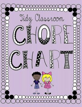 Tidy Classroom Chore Chart | teaching aids, projects