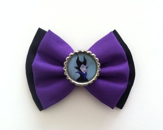 Maleficent Disney Villain Hair Bow  Sleeping Beauty