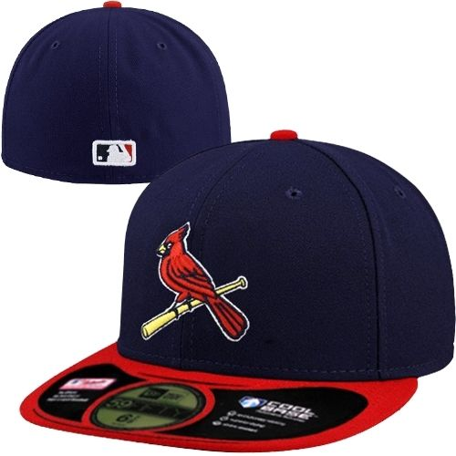 New Era St Louis Cardinals On-Field Performance 59FIFTY Fitted Hat - Navy  Blue Red 2575a18b389
