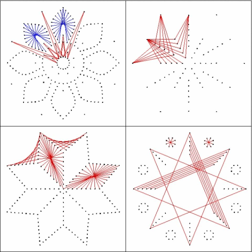 String Art Patterns Part - 45: Flower Pattern To Do On Silk With Dark Blue/yellow? Contrast Threads With  Silk.