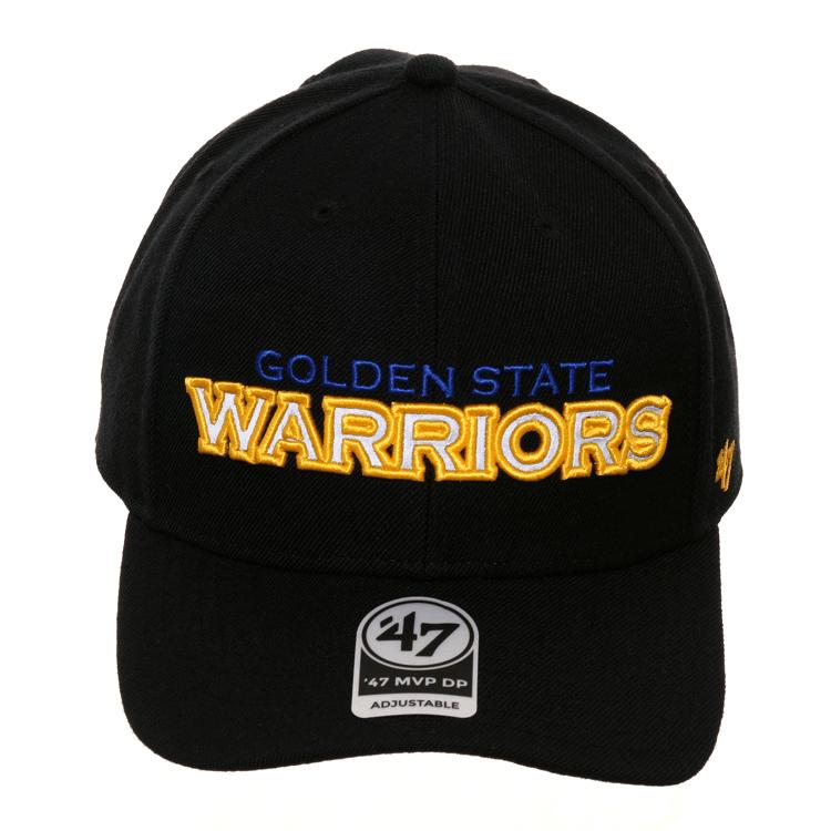 fbaeaa529f6b5e 47 Brand Golden State Warriors Word MVP Reflective Strapback Hat - Black, $  32.00