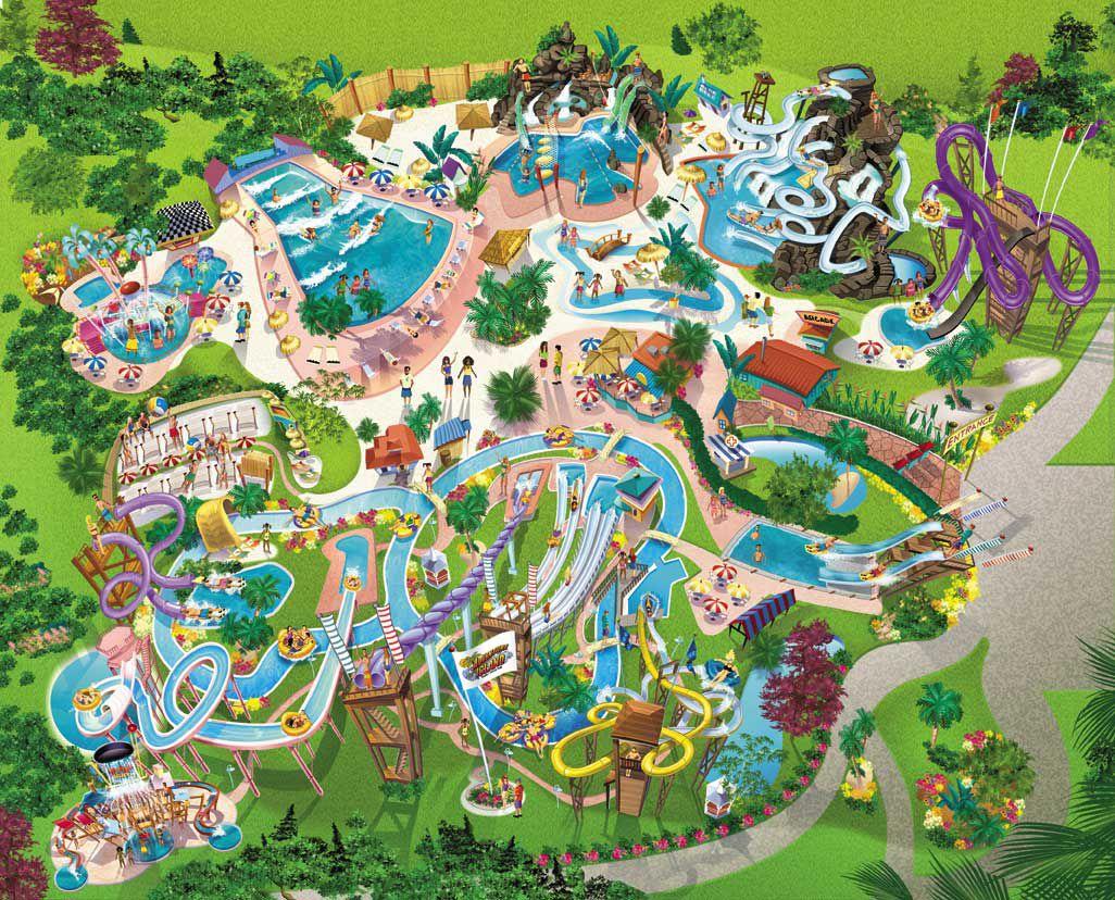 Mapa del Parque Isla de la Aventura en Florida Adventure