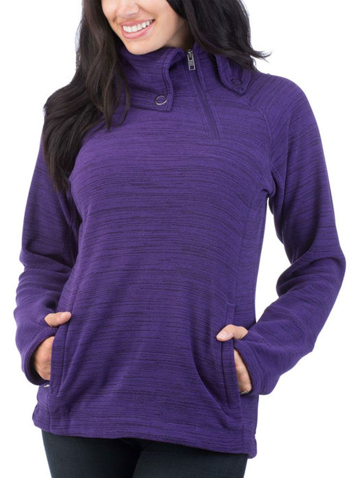 Avalanche Ladies' ¼ Zip Micro Fleece Pullover - Purple