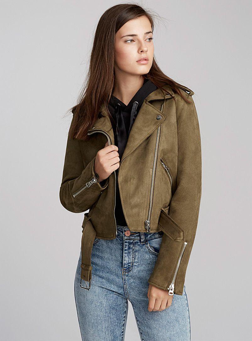 Fauxsuede biker jacket Dex Shop Women's Jackets and