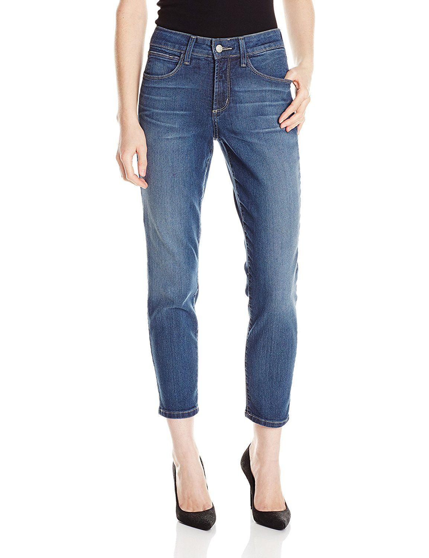 NYDJ Womens Petite Size Clarissa Skinny Ankle Jeans
