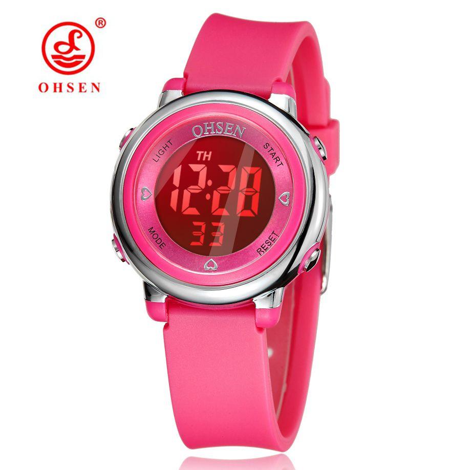 Watches Sporting Kids Cute Flower Watches Cute Kids Watches Cartoon Silicone Digital Wristwatch Clock Children For Boys Girls Relogio
